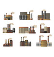 set of buildings of an industrial manufactory vector image