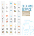 set of cleaning service icons and symbols vector image