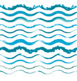 set of hand drawn seamless wave borders vector image