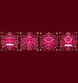 set vintage decorations flourishes elements vector image vector image
