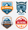 Ski badges vector | Price: 3 Credits (USD $3)