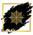 spider on web golden icon at vector image vector image