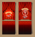 stand-up comedy show banner set vector image vector image