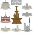 symbols us cities vector image vector image