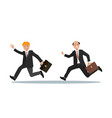 two businessmen with a briefcase in their hand are vector image vector image