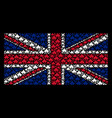 united kingdom flag collage of component items vector image vector image