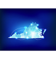 Virginia state map polygonal with spot lights vector image