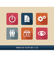 Web apps square flat icons set vector image