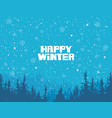 winter snowy landscape with age-old fir trees vector image vector image
