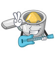 with guitar metal measuring spoons isolated on vector image vector image