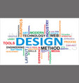 word cloud design vector image