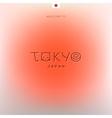 world cities labels - tokyo vector image vector image