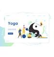 yoga website landing page design template vector image
