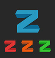 Z letter app 3D logo graphic design element for vector image vector image