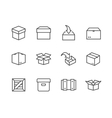 Box and crates icons vector image