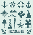 Set Sailing Icons and Symbols vector image