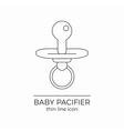 Baby nipple line icon vector image