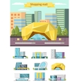 Shopping Mall Orthogonal Concept vector image
