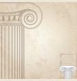 classic columns background roman engraving vector image