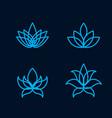 lotus flower icon set vector image