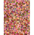 Abstract multicolor triangle mosaic background vector image vector image