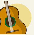 acoustic guitar cartoon vector image