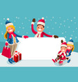 advertise family winter sale vector image vector image