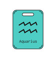aquarius sign of the zodiac flat symbol vector image vector image