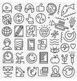 art web icons vector image