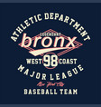 athletic department legendary bronx vector image vector image