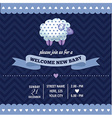 baby shower invitation with sheep in retro style vector image