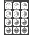 Black clocks icon vector image vector image