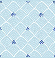 blue abstract pattern with flowers vector image vector image