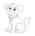 Cartoon puppy coloring book page for children vector image vector image