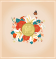 Chinese wedding card invitation with Chinese text vector image vector image