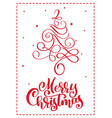 christmas scandinavian greeting card with merry vector image vector image
