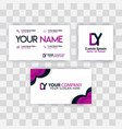 clean business card template concept purple vector image vector image