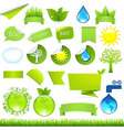 Collection Eco Design Elements vector image vector image