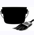container and painting brush vector image vector image