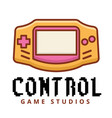 control game studios game boy background im vector image