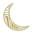 crescent moon vector image vector image