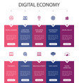 digital economy infographic 10 option ui design vector image