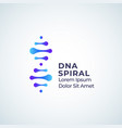 dna spiral abstract sign symbol or logo vector image