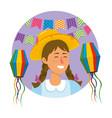 festa junina cartoon vector image vector image