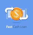 financial services cash back concept money vector image vector image