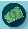 Flat icon of money vector image vector image