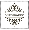 frame with decorative elements vector image vector image