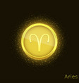 golden aries sign vector image vector image