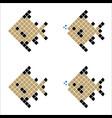 golden pixel fish geometric fish vector image vector image