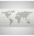 Gray Political World Map vector image vector image